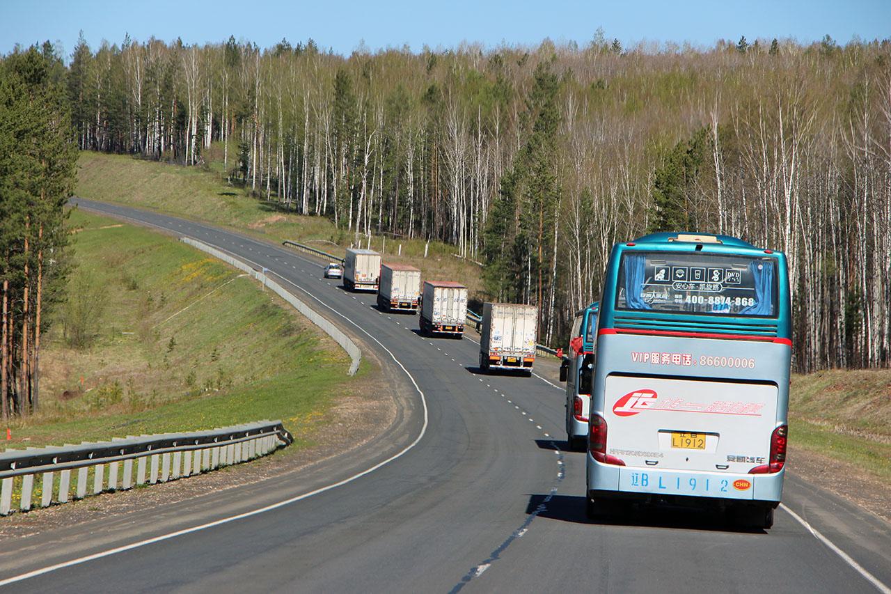 Движение колонны по Забайкальскому краю